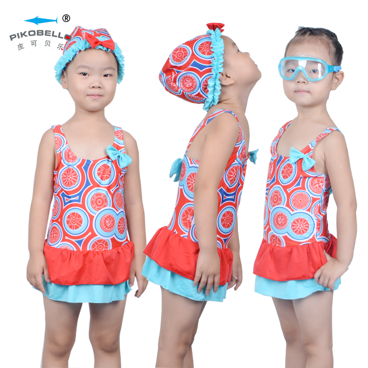 Girls Sunflower Swimsuit Set