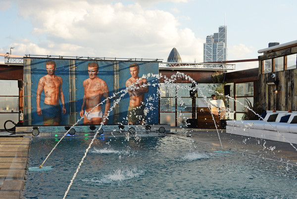 HM and David Beckham held a party in London to celebrate the launch of the swimwear collection