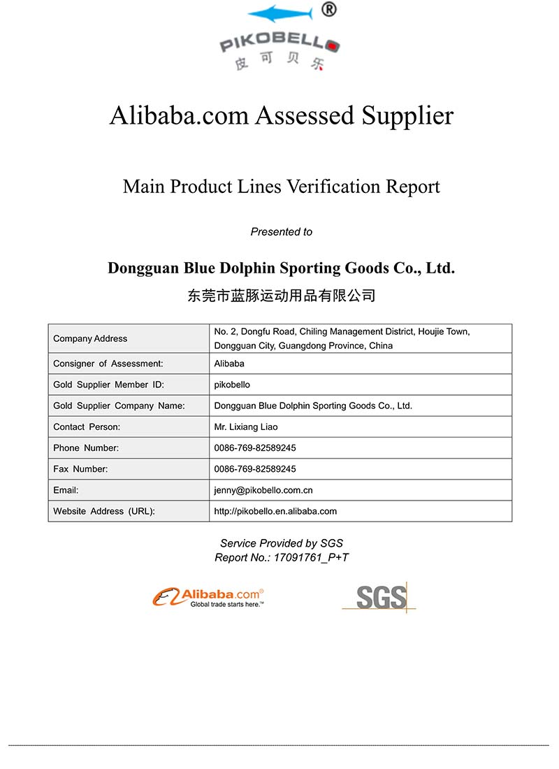 SGS-main_product_report-Dongguan Blue Dolphin Sporting Goods Co., Ltd